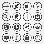 Flat vector game icons set