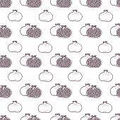 Garnet fruits vector seamless pattern