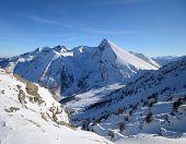 Elegant Snowcapped Mountain Peak