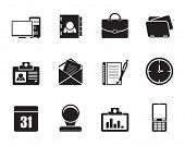 Silhouette Web Applications,Business and Office icons, Universal icons