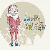 Merry Christmas Background With Santa