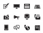 Silhouette Communication channels and Social Media icons