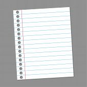 Blank paper note for records.