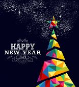 New Year 2015 Tree Poster Design