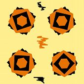 Black-orange seamless texture