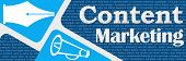 Content Marketing Blue Rounded Squares Banner