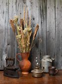 Jug with dry reeds