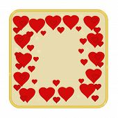 Valentines Day Hearts Gold Background Vector