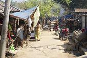 People at the street in Bandarban, Bangladesh.