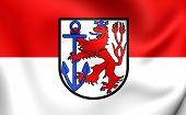 Flag Of Dusseldorf, Germany.