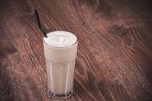 Chocolate Milk Shake In Glass