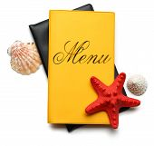 Seashells On Menu Book