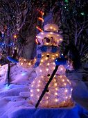 Snowman with Xmas Lights