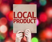 Local Product card with colorful background with defocused lights
