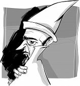 foto of wizard  - Sketch Drawing Illustration of Fantasy Wizard or Sorcerer - JPG