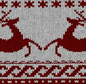 Norwegian Pattern - Reindeer - Christmas Vector