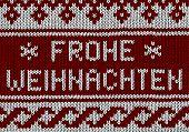 image of weihnachten  - Norwegian knitting Pattern with german text Frohe Weihnachten - JPG