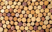 Wall Of Used Wine Corks.