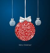 Christmas background with Christmas balls, vector illustration.