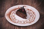 Chocolate And Cherry Cake Slice