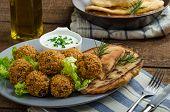 Crispy healthy falafel