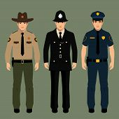 policeman and sheriff