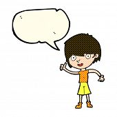 picture of attitude boy  - cartoon boy with positive attitude with speech bubble - JPG