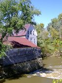 Old Grain Mill On Rough River In Kentucky