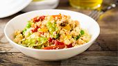 foto of tabouleh  - fresh cous cous with mixed grilled vegetables - JPG