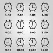 picture of clocks  - The Alarm clock icon - JPG