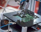 stock photo of welding  - Robot Welding - JPG
