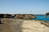 pic of arid  - The bay of Salinas in the town of Sao Jorge on the island of Fogo Part of Republic of Cabo Verde with its dry arid aroma during a sunny afternoon - JPG