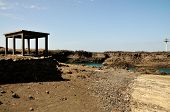 foto of arid  - The bay of Salinas in the town of Sao Jorge on the island of Fogo Part of Republic of Cabo Verde with its dry arid aroma during a sunny afternoon. ** Note: Visible grain at 100%, best at smaller sizes - JPG
