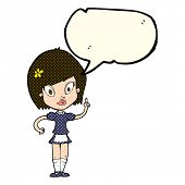 picture of maids  - cartoon pretty maid with speech bubble - JPG