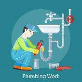 pic of plumber  - Plumbing work - JPG