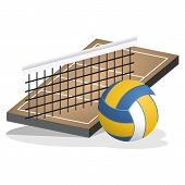 image of volleyball  - This image is a volleyball equipment vector illustration - JPG