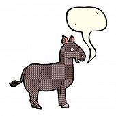picture of mule  - cartoon mule with speech bubble - JPG