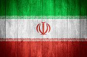pic of iranian  - Iran flag or Iranian banner on wooden boards background - JPG