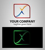 foto of letter x  - Abstract letter X logo icon design element - JPG