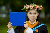 Asian Student On Her Graduation Day