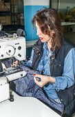 picture of sewing  - Industrial sewing machines sewing machine operator with chain - JPG
