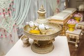 stock photo of marriage ceremony  - Conch shell for thai wedding ceremony  - JPG