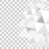 stock photo of polygon  - Vector background abstract polygon triangles - JPG
