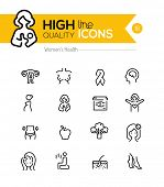 picture of pregnancy  - Pregnancy and women health line icons series - JPG