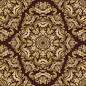 picture of damask  - Oriental vector fine pattern with damask - JPG