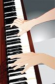 foto of organist  - image of hands pianist during a concert performance - JPG