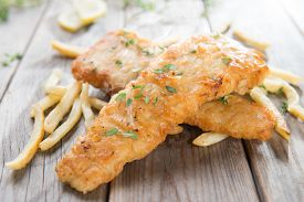 pic of fish  - Fish and chips - JPG