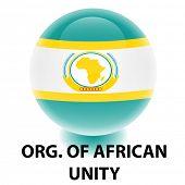 Org. Orbe de la bandera de la unidad africana