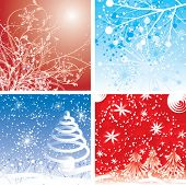 Christmas winter backgrounds, vector illustration