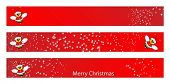 Christmas web banner for kids with a Santa Claus Bee. Label useful